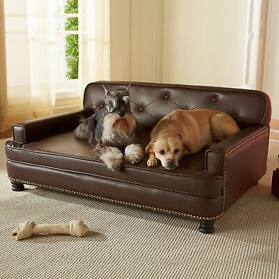"""Enchanted Home Pet Library Sofa Dog Bed in Brown, 40"""" L x 29.5"""" W"""