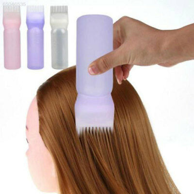 3706 Plastic Comb Teeth Hair Dye Bottle Dispensing Tint Tool White/Pink/Purple