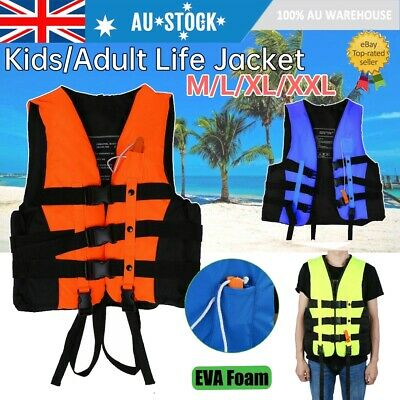 Adult Kids Lifesaving Vest Sailing Boating Swimming Rafting Safe Life Jacket