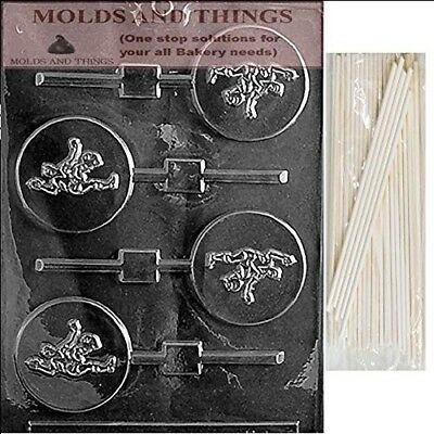 SOCCER LOLLY Chocolate Candy Mould With © Moulding Instruction + 25 Lollipop