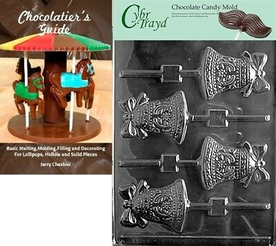 """(+Chocolatier Bk) - Cybrtrayd """"Bell Lolly"""" Wedding Chocolate Candy Mould with"""