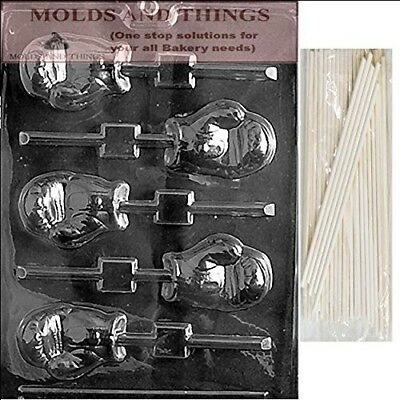 BOXING GLOVE LOLLY Chocolate Candy Mould With © Moulding Instruction + 25