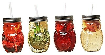 (Clear) - Circleware 69049 Hoot Owl Set of 4, 440ml, Clear. Best Price