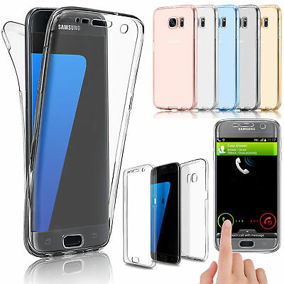 Handyhülle Clear View Full TPU Case Cover Handy Schutz Hülle Tasche Transparent