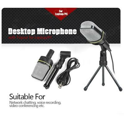 Condenser USB Microphone w/ Tripod Stand for PC Game Chat Studio Recording R5M3