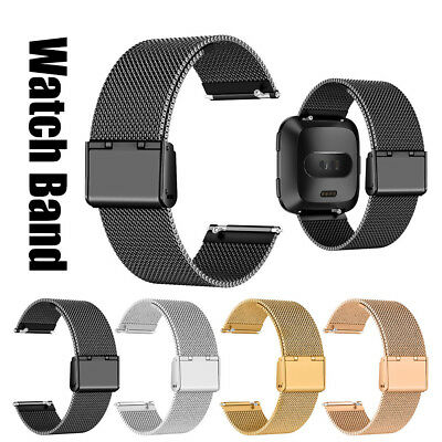 Milanese Stainless Steel Metal Buckle Watch Band Strap For Fitbit Versa