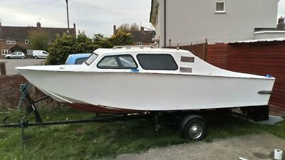 16ft marine boat with trailer and outboard