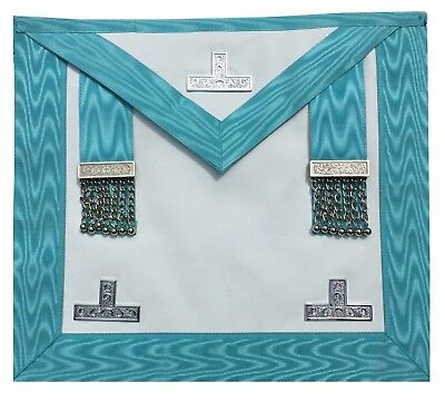 Masonic Regalia Craft Worshipful Mason WM Apron past master in Real Leather