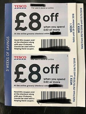 Tesco Money Off Coupons worth £24