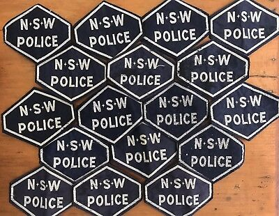 Nsw Police Vintage Hex Patches Lot
