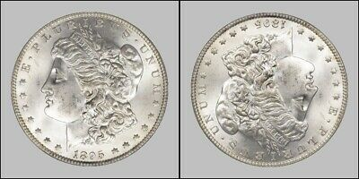 1895 Double Headed Morgan Dollar Heads On Both Sides