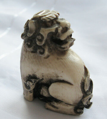 Seltenes Netsuke -  Fossiles Material  -