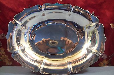 Lunt ~Silver Plated OVAL DISH PLATE~ B60