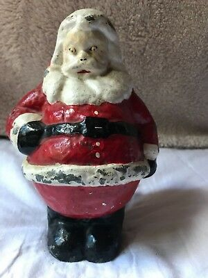 "Santa Figure Antique ""Cast Iron"" Christmas Figurine"