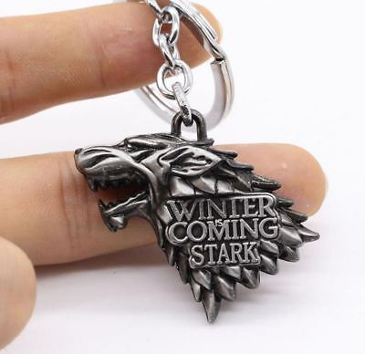 Game Of Thrones House Stark Winter Is Coming Winterfell Schlüsselanhänger Neu !