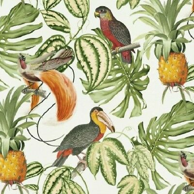 Erismann - Paradisio Tropical Parrot Pineapple Wallpaper - White / Multi 6302-07