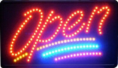 """LED SIGN """"OPEN"""" 24 cm X 48 cm with Chain & UK Plug"""