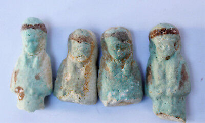 lOT of 4 shabti 1085-713BC Egypt Third Intermediate Period 21st dynasty faience