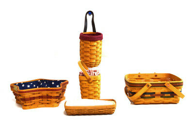 (Lot of 5) Longaberger Assorted Decorative Baskets Collection USA (1263)