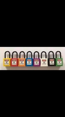Electrical Lockout Safety Padlock mcb lock out tag Lock x10