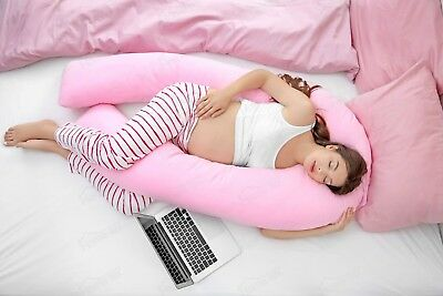 9ft U Shaped Pillow - FREE CASE Total Body Comfort Pregnancy & Maternity Use