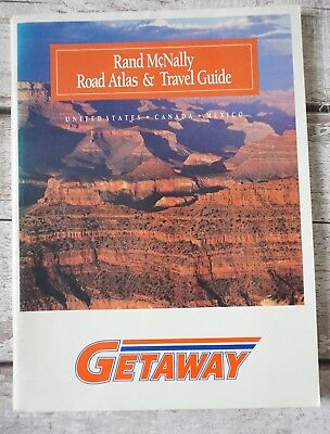 RAND MCNALLY Road ATLAS Travel Guide United States US Mexico 1992