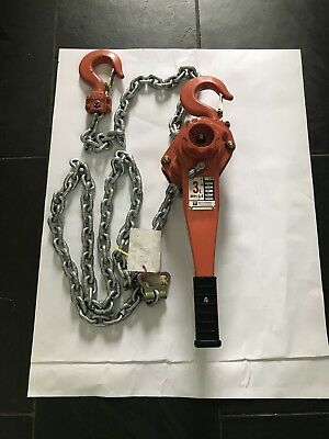 Hackett Lever Hoist 3t Ton Heavy Duty Lift WH L4 3000kg 3.5 Meter And  1.5 Meter