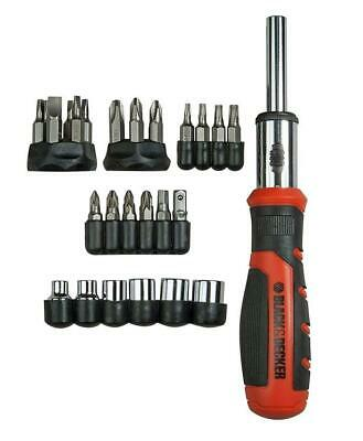 Black & Decker Kit Giravite a Cricchetto con 29 inserti  - BDHT0-62130