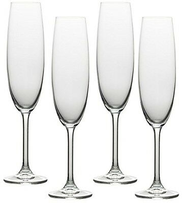 (250ml, Clear) - Circleware Soiree Glass Wine Champagne Drinking Flutes, Set