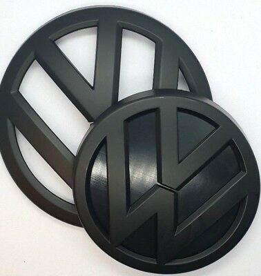 VW golf 7 mk7 vii badge logo emblem front back rear black matte volkswagen