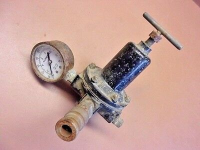 Vintage STEWART-WARNER No. 7604 Air Pressure Regulator w/Alemite Gauge REDUCED!