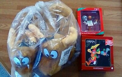 Rocky & Bullwinkle Christmas Ornaments Slippers 1996