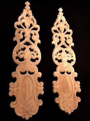 Ornamente..2st..35cm..Empire.Holzornament.Schnitzerei.Barock.Wood Appliques.Holz