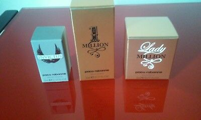 Lot de 3 miniatures paco rabanne neuves