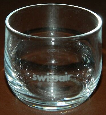 Small 3oz Swissair Cup Glass Airlines