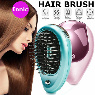 Portable Electric Ionic Hairbrush Takeout Mini Ion Hair Brush Comb Massage