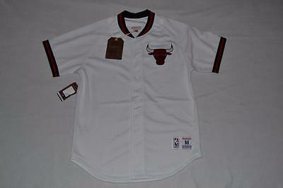 1af58 84bc5  ebay mitchell ness chicago bulls seasoned pro mesh button  front jersey s nba white 45208 b68e9 45a7d3e84