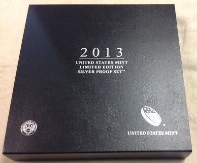 2013 U.S. Mint Limited Edition Silver Proof Set w/ Original Box and COA