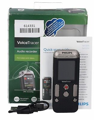 Philips Voice Tracer DVT2510 With 2 Mic Stereo Recording *used*