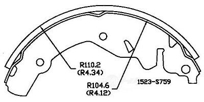 Parking Brake Shoe Rear OMNIPARTS AUTOMOTIVE 13070472 fits 1997 Infiniti Q45