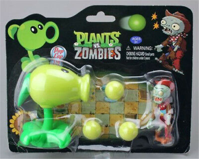 Plants vs Zombies PVZ Peashooter ABS Shooting Bullets Figure Toy Gift for Kids