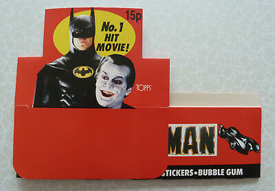 Batman The Movie - Topps Trading Cards Counter Display Box Empty - UK 15p Priced