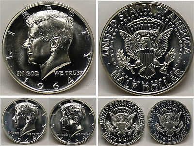 1964 kennedy half dollar Gem 90% Silver Proof