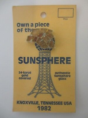 1982 Actual World's Fair Knoxville Sunsphere 24-karat Gold Covered Glass Relic