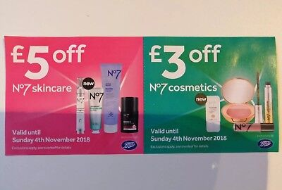 Boots No7 £5 Off Skincare & £3 Off Cosmetics Voucher Coupon