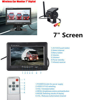 "Wireless Rear View Backup Camera Night Vision System+7""Monitor for RV Truck Sale"