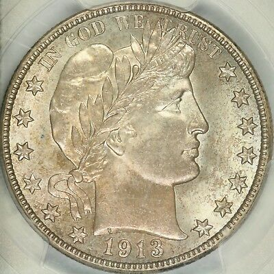 1913-D Barber Half Dollar PCGS MS65