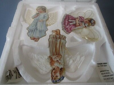 "BRADFORD EDITIONS ""Heaven's Little Angels"" ORNAMENTS by Dona Gelsinger wo/paper"