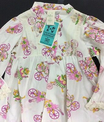 Isaacson Carrico Nightgown Toddler Sz 3T Long Sleeve Polyester Girl On Tricycle