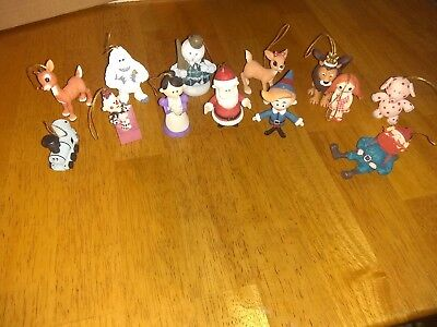 Rudolph the red nosed reindeer ornaments. Used in excellent condition